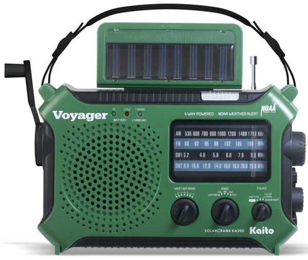 Dynamo & Solar Powered Short Wave Radio with Special Features